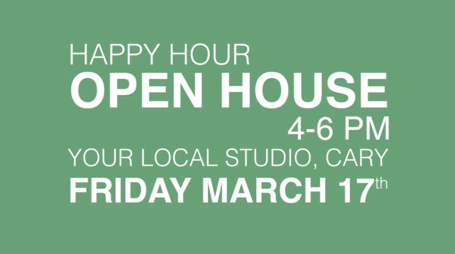 studio B is open in Cary Your Local Studio - visit the open house