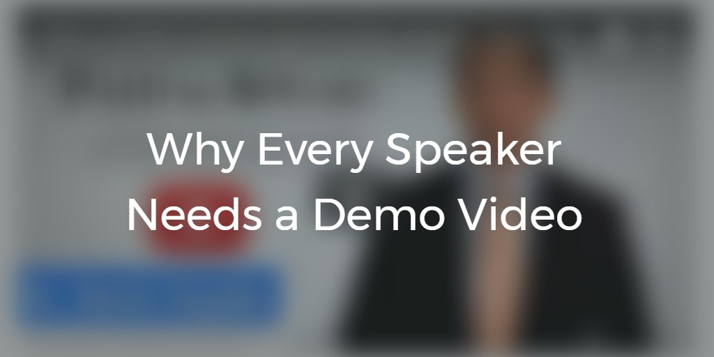 Why Every Speaker Needs a Demo Video